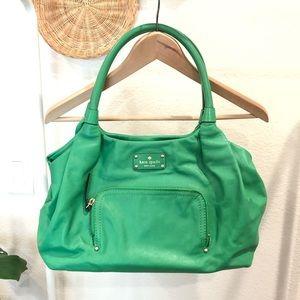 Kate spade green shoulder bag
